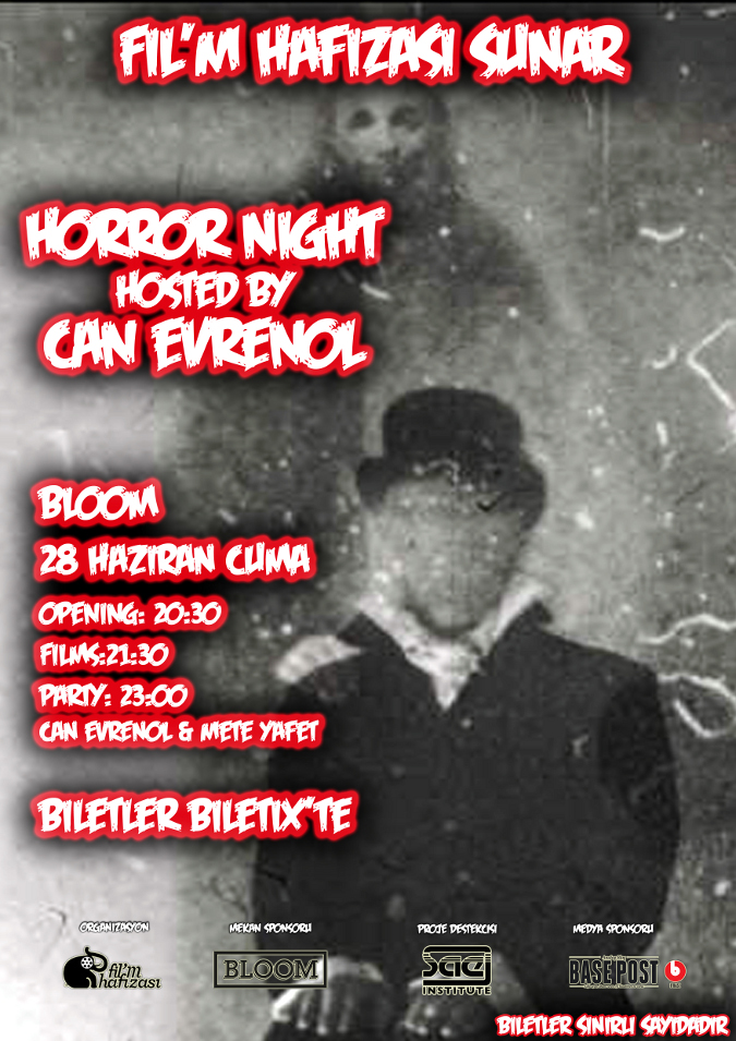 Film Hafızası Sunar:Horror Night hosted by Can Evrenol