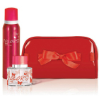 Rebul Colors serisi parfümlerinden alana aynı ürünün deodorantı ve şık bir makyaj çantası hediye