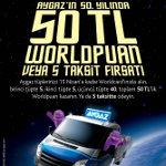 Aygaz´dan 50. Yıl Hediyesi: Ev Tüpü Alana 50 TL Worldpuan Hediye