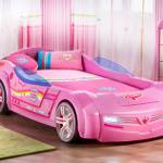 Çilek'ten Küçük Hanımlar için Pespembe Araba Yatak BIPINKY