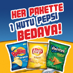 Lay´s, Ruffles, Doritos, Çerezza ve A La Turca Paketlerinde Herkese Anında 330ml. Pepsi Bedava
