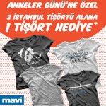 Anneler Günü`ne Özel 2 İstanbul Tişörtü Alana 3.sü Hediye