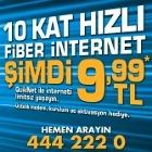 Tellcom`dan 10 Kat Hızlı `Fiber İnternet` 9,99 tl