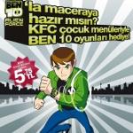 KFC Çocuk Menüleriyle BEN 10 Oyunları Hediye!