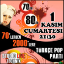 70`lerden 2000`lere Türkçe Pop Party