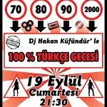 DJ Hakan Küfündür ile %100 Türkçe Gecesi
