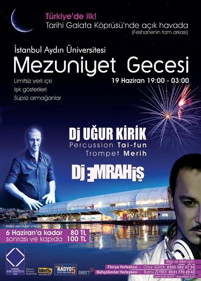 İstanbul Aydın Üniversitesi Mezuniyet Gecesi