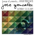 Lounge o2 presents: Jose Gonzalez