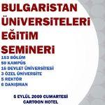 Bulgaristan Üniversiteleri Eğitim Semineri