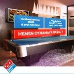 Domino's Pizza, Sizi Bol Malzemos Bilardo Oyununa Davet Ediyor