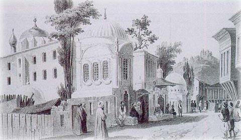 Eyüp Sultan Cami - gravür