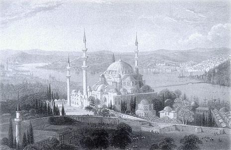 Süleymaniye Cami - gravür