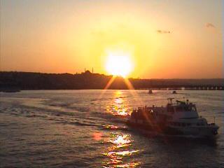 İstanbul`da Günbatımı - Sezer