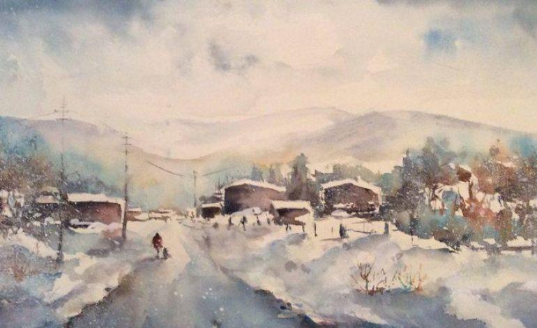 Kış Temalı Karma Resim Sergisi 3