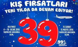 Anadolujet'le 39.99 TL'den Başlayan Kış Kampanyası