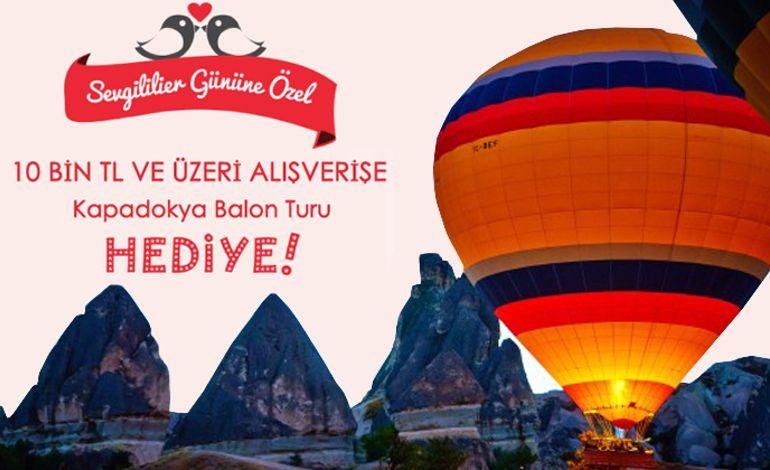 Mobilya Alan Çiftlere, Balonla Kapadokya Turu Hediye!