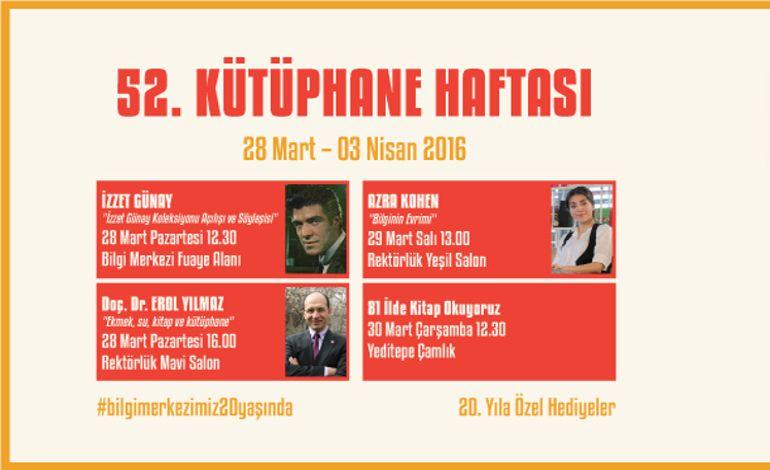 52. Kütüphane Haftası Yeditepe'de Kutlanıyor