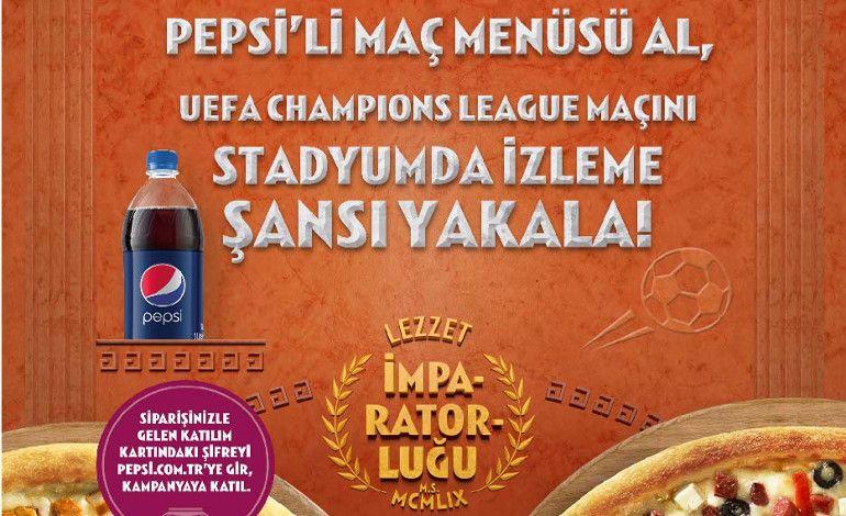 Maç Menüsü Alanlar UEFA Şampiyonlar Ligi Maçını Yerinde İzliyor