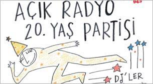 Açık Radyo 20. Yaş Partisi