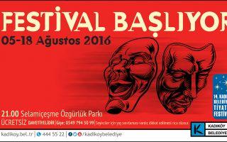 14. Kadıköy Belediyesi Tiyatro Festivali Başlıyor