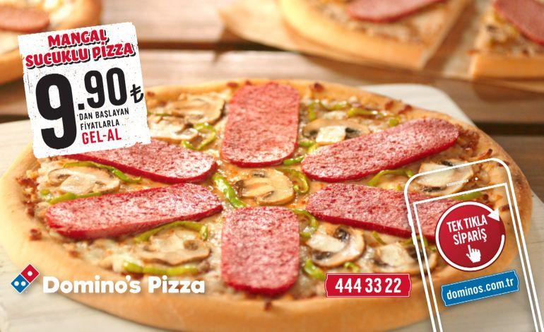 Dünyada İlk! Dev Dilimleriyle Mangal Sucuklu Pizza