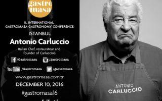 Antonio Carluccio, 10 Aralık'ta Gastromasa'da..
