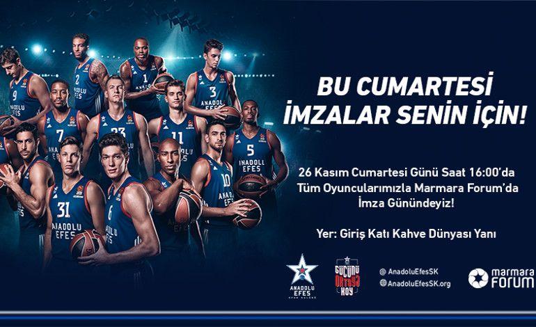 Anadolu Efes Basketbolcuları Hayranlarıyla Buluşuyor