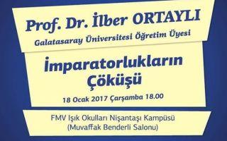 FMV Kültür Konferanslarının Ocak Ayı Konuğu Prof. Dr. İlber Ortaylı