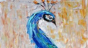 Yağlı Boya Workshop Tavus Kuşu