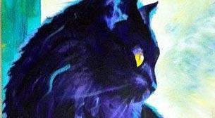 Yağlı Boya Workshop Mavi Kedi