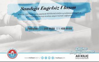 Maltepe'de Engelliler İçin Referandumda Ücretsiz Servis