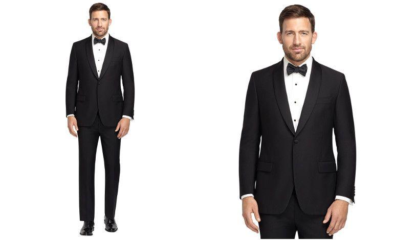 Amerikan Stili Smokinler ve Non-İron Gömlekler ile Damatlar Brooks Brothers Garantisinde