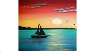 "Tuval Boyama ""Sunset"""