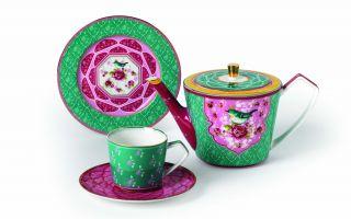 Yaz Misafirine Özel Cıvıl Cıvıl Çay Seti