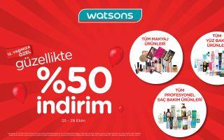 Watsons'tan Güzellikte %50 İndirim!