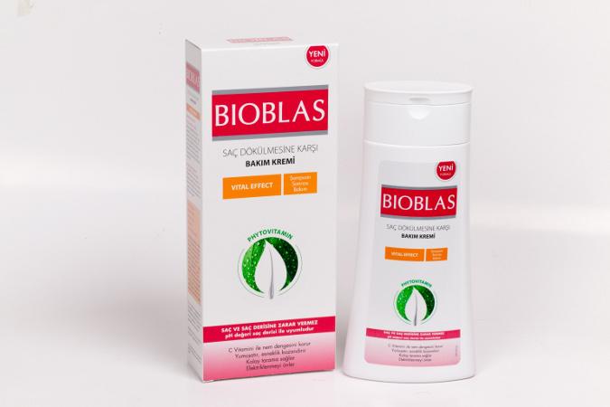 Bioblas'tan Saç Diplerine Uygulanan Saç Bakım Kremi
