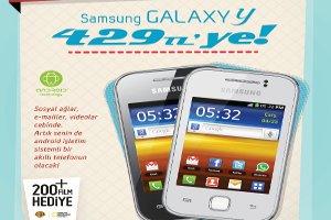 Samsung Galaxy Y, 429 TL Fiyatıyla Tam Sana Göre!