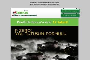 Pirelli'den Bonus Kart Sahiplerine 12 Taksit Fırsatı