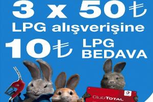 Club Total ile 10 TL Bedava Lpg Kampanyası Başlıyor