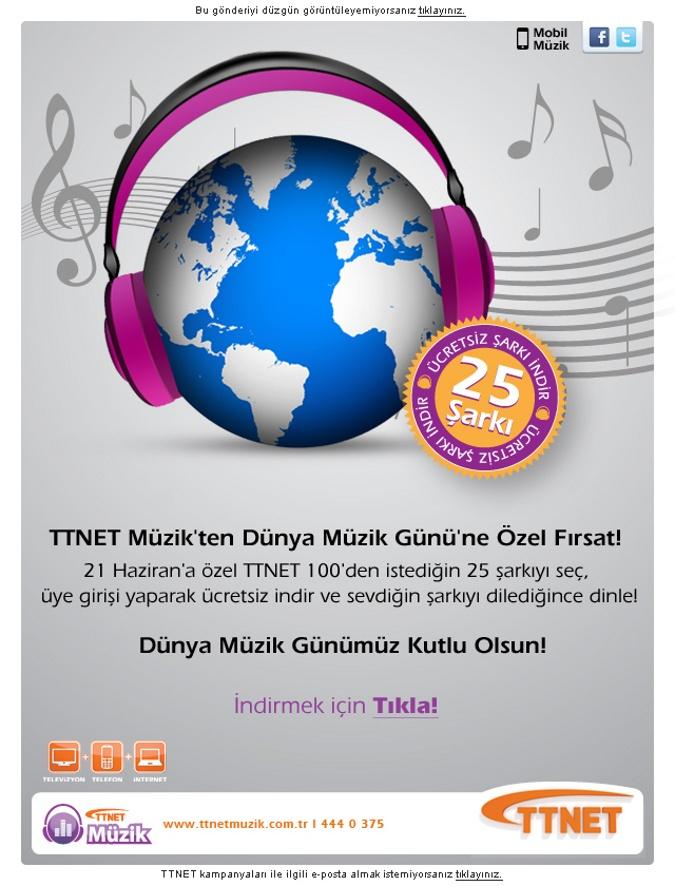 TTNET Müzik'ten Dünya Müzik Günü'ne Özel