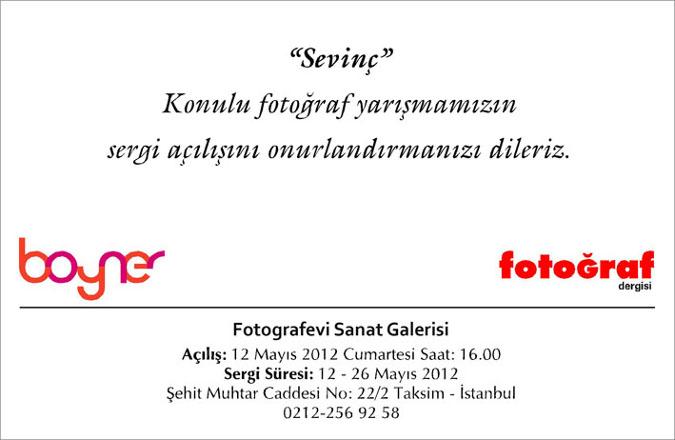 """Boyner Mağazaları """"Sevinç"""" Konulu Fotoğraf Yarışması Sergisi"""