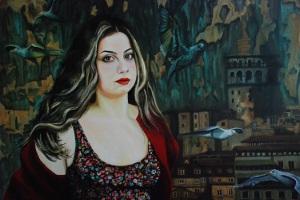 Ressam Silver Gözütok Güçlü Gümüş-Renkli Sorgulamalar/ Kadınsal Kayıtlar