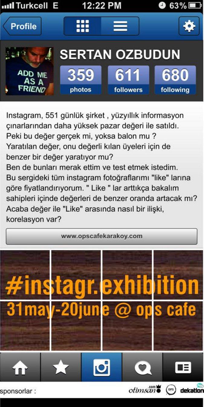 Sertan Özbudun - instagr.exhibition