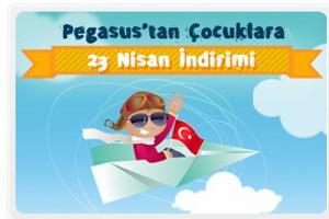 Pegasus'tan Çocuklara 23 Nisan İndirimi