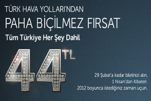 Paha Biçilmez Fırsat: Tüm Türkiye 44 TL
