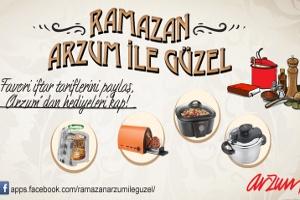 Arzum'dan Ramazan Ayı'na Özel Ödüllü Yemek Tarifleri Yarışması
