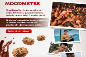Biscolata 'Moodmetre'yi Kullan, İspanya'da Domates Festivali'ne Katıl