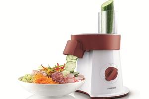 En Güzel Salatalar Kırmızı Philips Salata Ustası ile Doğrayıcıdan Tabağa
