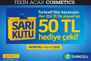 Tekin Acar Cosmetics'te Turkcelli'ler Kazanıyor