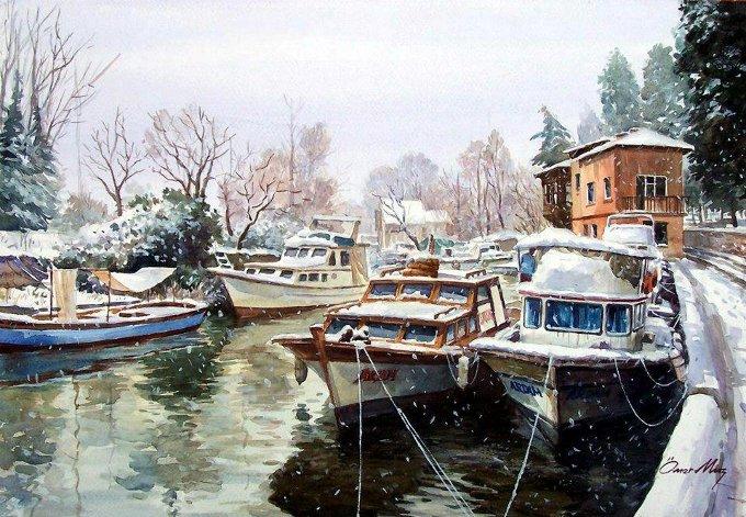 HSM Kış Temalı Resim Sergisi